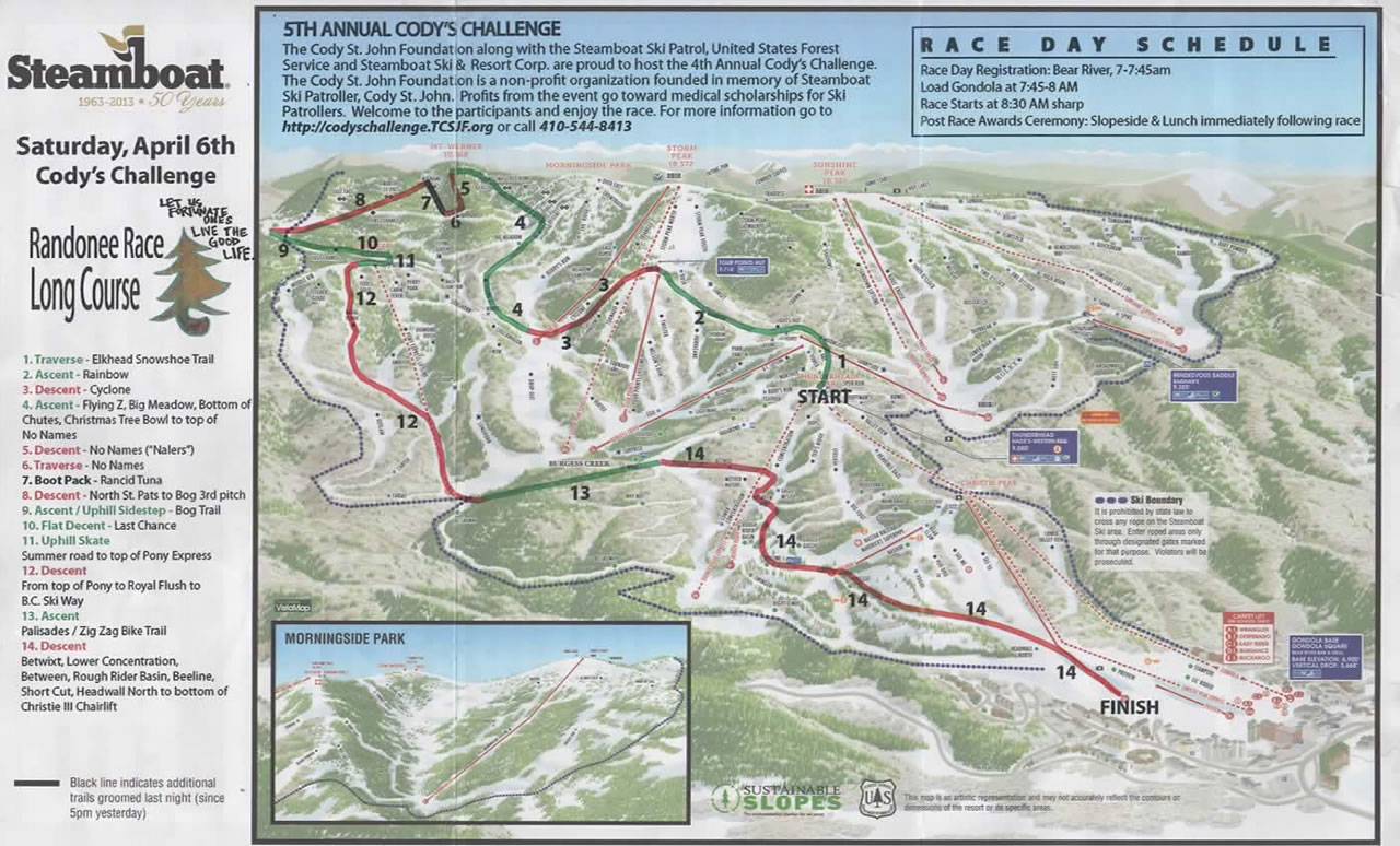 Race Map 2013 Cody's Challenge